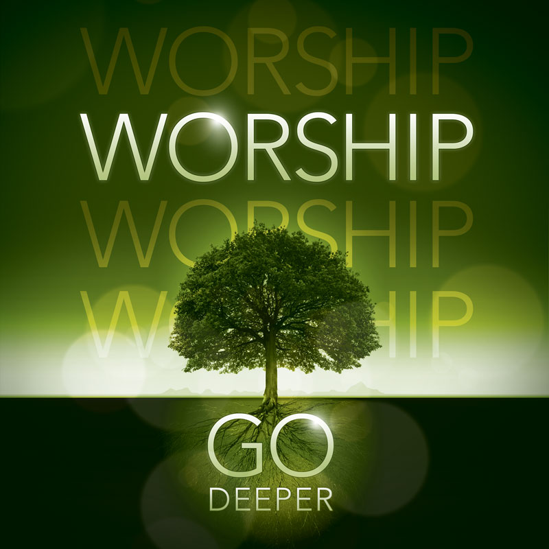 Church Banner Deeper Roots Worship Horizontal 3 X 3