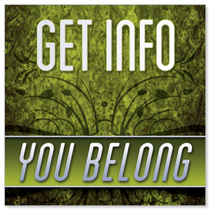 You Belong Information Banners