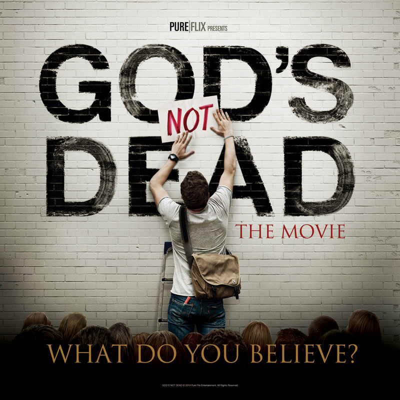 God's Not Dead 3x3 Stickup Banner