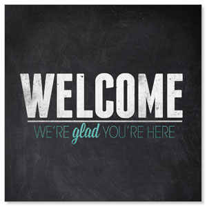 Slate Welcome StickUp