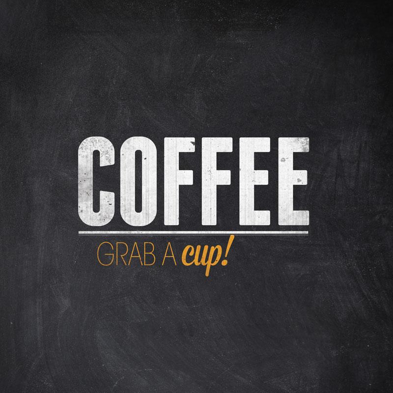 Slate Coffee Banner Church Banners Outreach Marketing