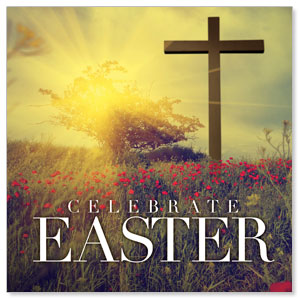 Celebrate Easter Cross StickUp