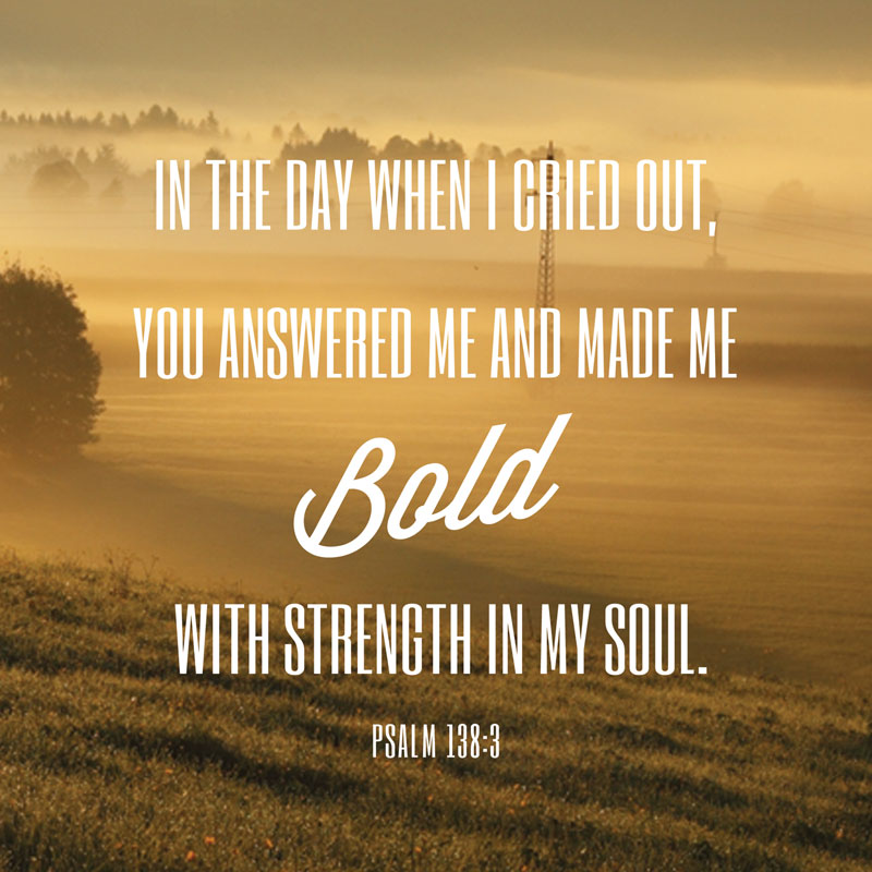 Phrases Psalm 138 3 Banner Church Banners Outreach