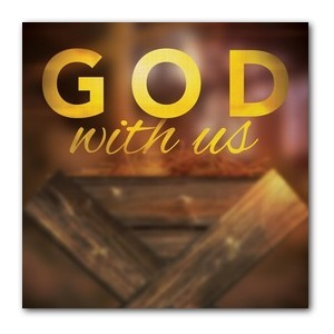 God With Us Manger Banners