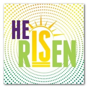 He Is Risen Dots Banners