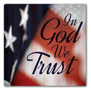God We Trust StickUp