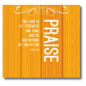 Painted Wood Praise StickUp