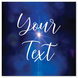 Celebrate Christmas Blue Sparkle Your Text StickUp