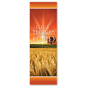 Give Thanks Lord 2' x 6' Banner