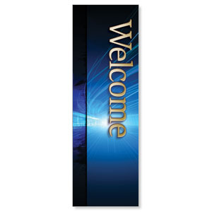 Light Rays Welcome  2' x 6' Banner
