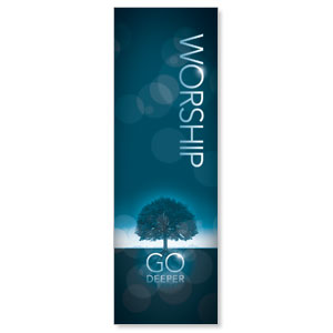 Deeper Roots Worship Vertical 2' x 6' Banner