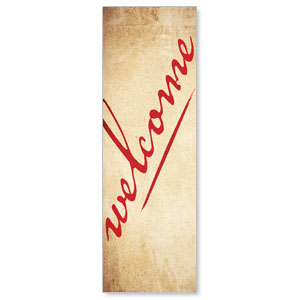 Red Script Welcome Banners