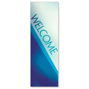 Color Rays Welcome 2' x 6' Banner