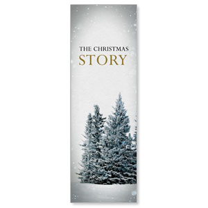 Christmas Story Trees 2' x 6' Banner