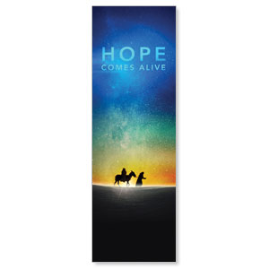 Hope Comes Alive 2' x 6' Banner