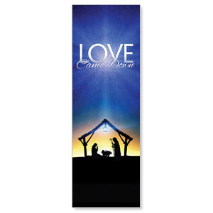 Love Came Down 2' x 6' Banner