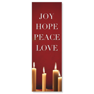 Advent Red 2' x 6' Banner