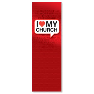 I Love My Church 2' x 6' Banner