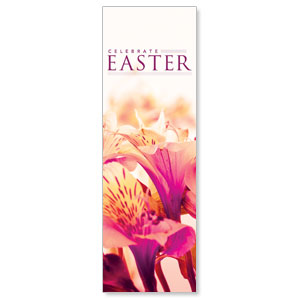 Celebrate Easter Flowers 2' x 6' Banner