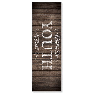 Rustic Charm Youth 2' x 6' Banner