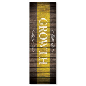 Rustic Charm Growth 2' x 6' Banner