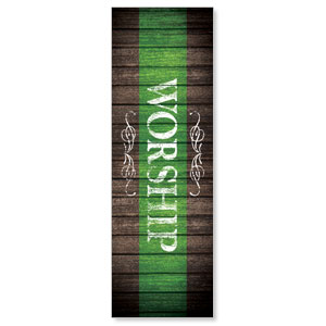 Rustic Charm Grn Worship Banners