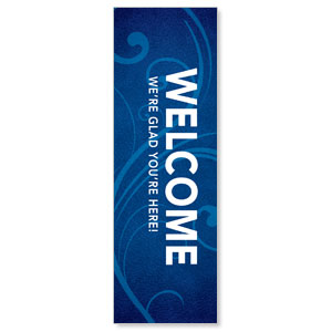 Flourish Welcome 2' x 6' Banner