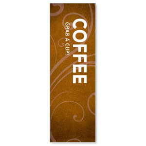 Flourish Coffee 2' x 6' Banner