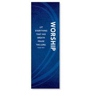 Flourish Worship Blue 2' x 6' Banner