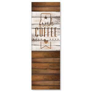 Barn Wood Coffee 2' x 6' Banner
