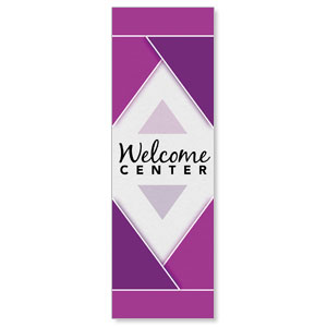 Welcome Diamond Purple Banners
