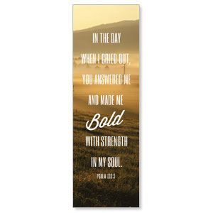 Phrases Psalm 138:3 Banners