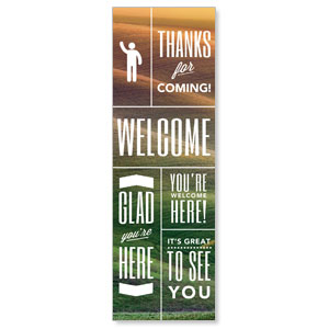 Phrases Welcome 2' x 6' Banner