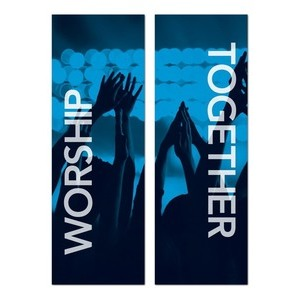 Worship Together Pair  2' x 6' Banner