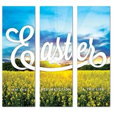 Easter Field Triptych Banner
