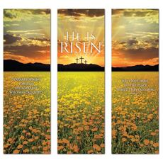He is Risen Triptych Banner