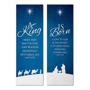 Christmas Blue 2' x 6' Banner