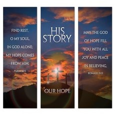 His Story Our Hope Triptych Banner
