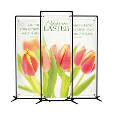 Tulips Triptych Banner