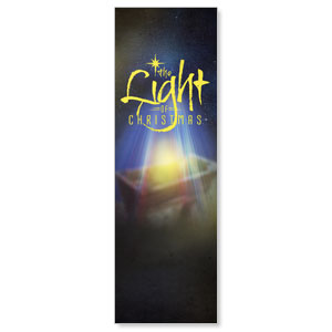 The Light of Christmas 2' x 6' Banner