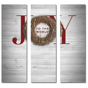 Joy Twig Wreath 2' x 6' Banner