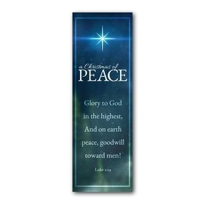 Christmas of Peace Luke 2:14 2' x 6' Banner