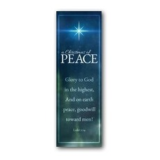 Christmas of Peace Luke 2:14 Banner