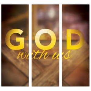 God With Us Manger Triptych 2' x 6' Banner