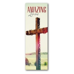 Amazing Love Cross 2' x 6' Banner