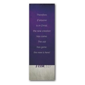 Color Block 2 Cor 5:17 Banners
