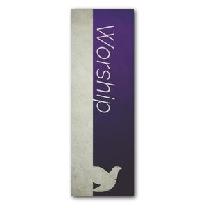 Color Block Worship 2' x 6' Banner