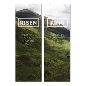 Risen King Hillside Pair 2' x 6' Banner