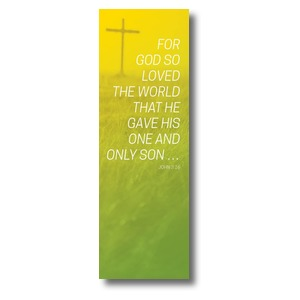 Color Wash John 3:16 2' x 6' Banner