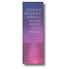 Color Wash Psalm 46:1 Banner